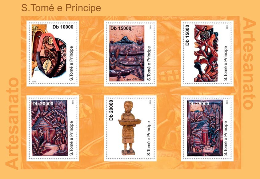 Handicrafts. - Issue of Sao Tome and Principe postage stamps