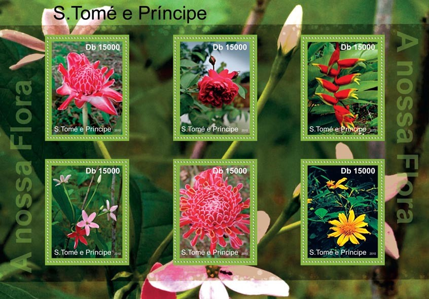 Flora of Sao Tome & Principe. - Issue of Sao Tome and Principe postage stamps