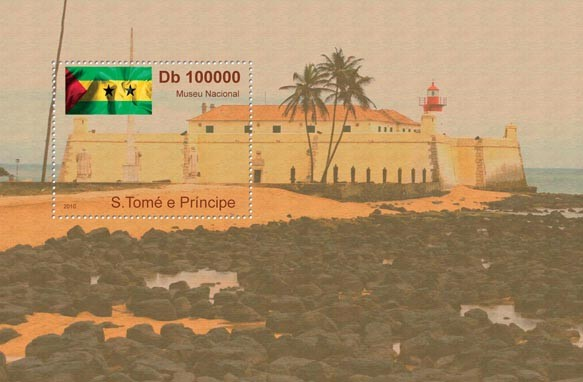 National Museum of Sao Tome & Principe, (Flag). - Issue of Sao Tome and Principe postage stamps