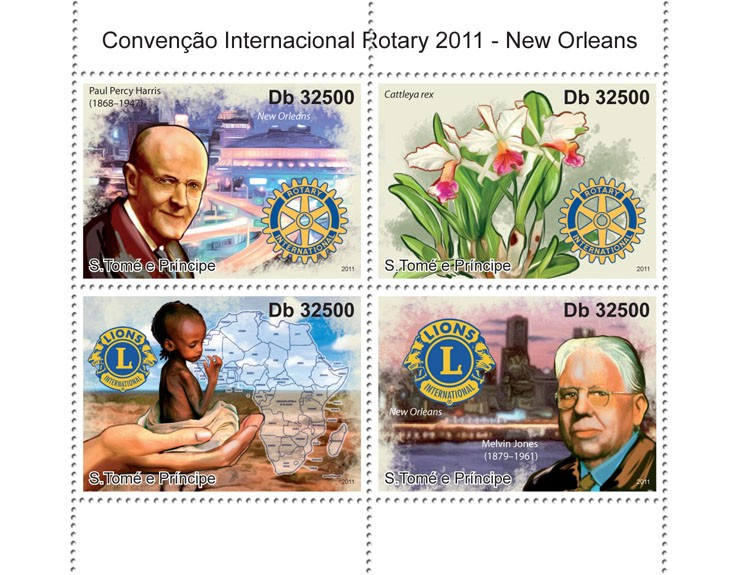 Rotary - Issue of Sao Tome and Principe postage stamps