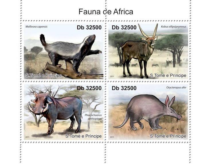 Fauna of Africa - Issue of Sao Tome and Principe postage stamps