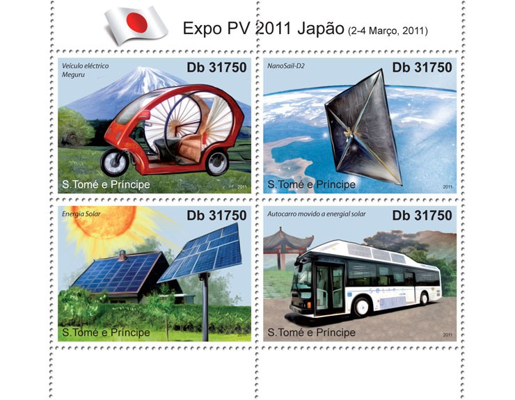 Expo - Issue of Sao Tome and Principe postage stamps