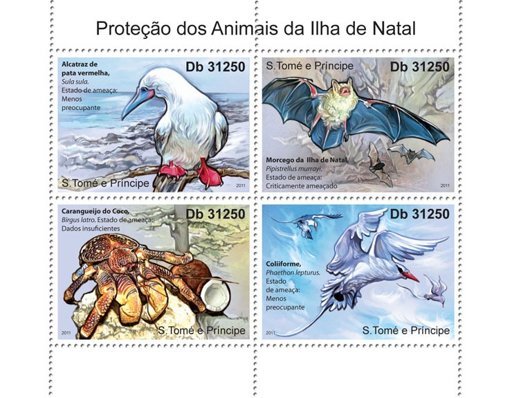 Protection of Animals - Issue of Sao Tome and Principe postage stamps