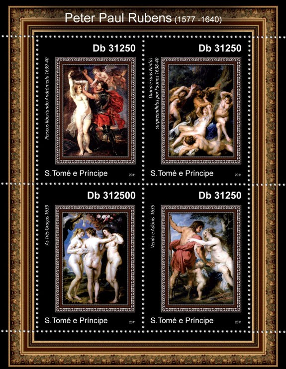 Peter Paul Rubens - Issue of Sao Tome and Principe postage stamps