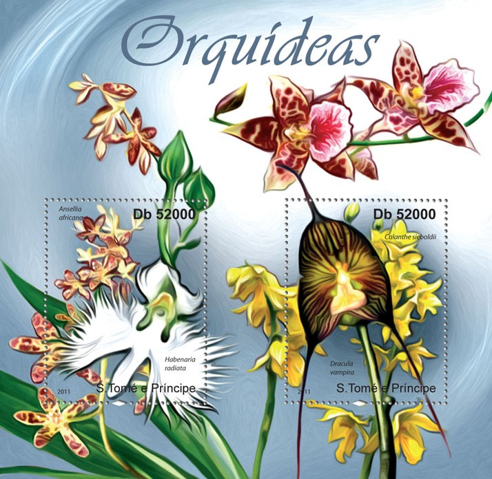 Orchids. - Issue of Sao Tome and Principe postage stamps