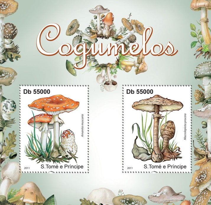 Uneatable Mushrooms. - Issue of Sao Tome and Principe postage stamps