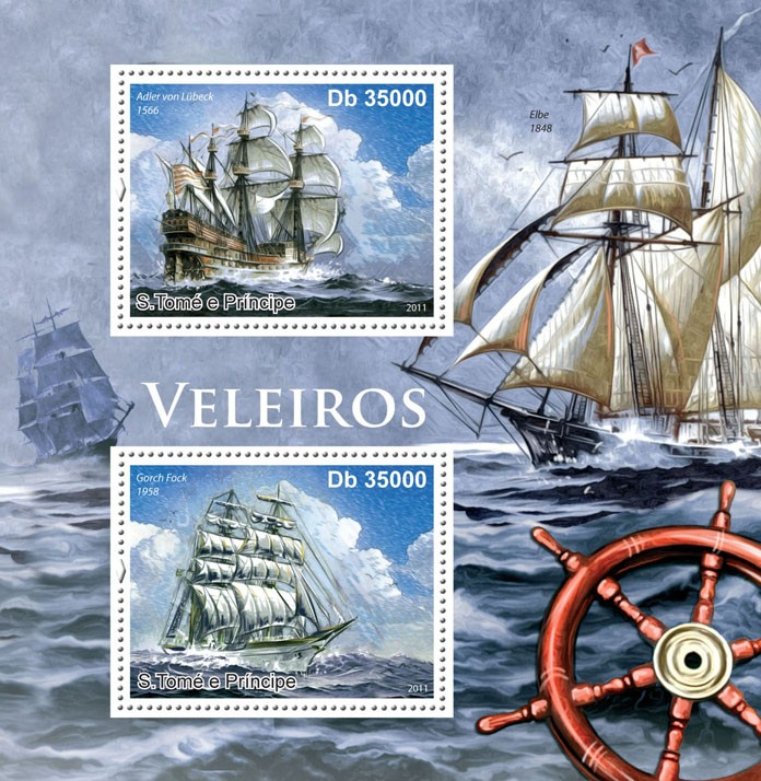 Sailing Ships. - Issue of Sao Tome and Principe postage stamps