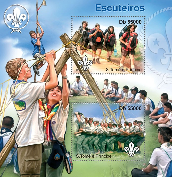 Scouts. - Issue of Sao Tome and Principe postage stamps