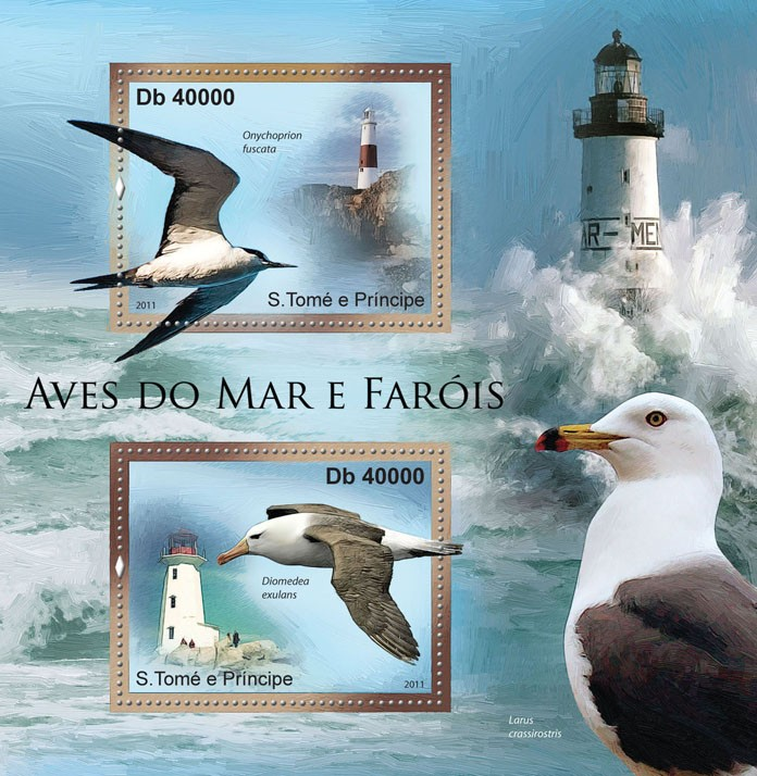 Sea Birds & Lighthouses. - Issue of Sao Tome and Principe postage stamps