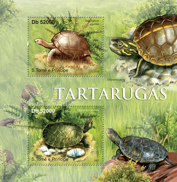 Turtles. - Issue of Sao Tome and Principe postage stamps