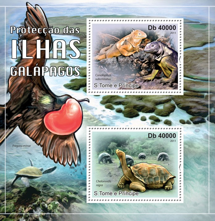 Protection of Galapagos Islands. - Issue of Sao Tome and Principe postage stamps