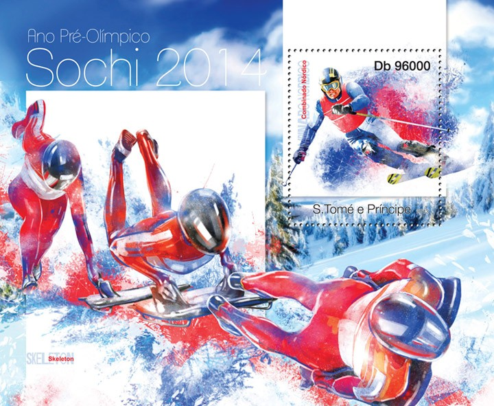 Sochi 2014 - Issue of Sao Tome and Principe postage stamps
