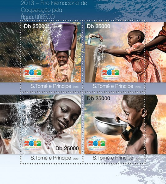 World Water Day 2013 - Issue of Sao Tome and Principe postage stamps