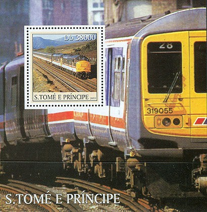 Trains s/s - Issue of Sao Tome and Principe postage stamps