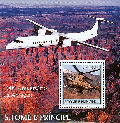 100th Anniversary Aviation s/s - Issue of Sao Tome and Principe postage stamps