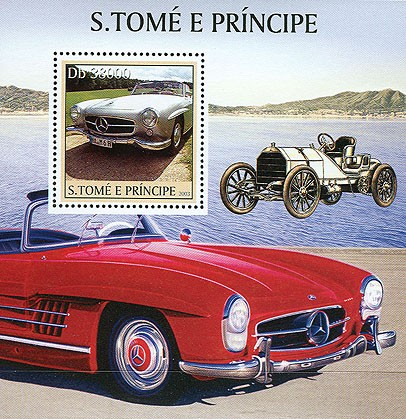 Mercedes s/s - Issue of Sao Tome and Principe postage stamps