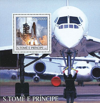 Concorde - Space s/s - Issue of Sao Tome and Principe postage stamps