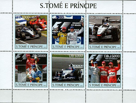 Formula I 6v - Issue of Sao Tome and Principe postage stamps