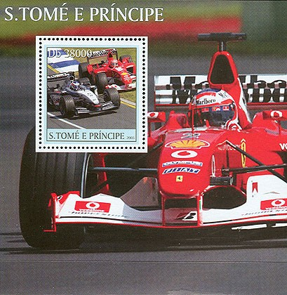 Formula I s/s - Issue of Sao Tome and Principe postage stamps