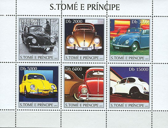 Volkswagen 6v - Issue of Sao Tome and Principe postage stamps