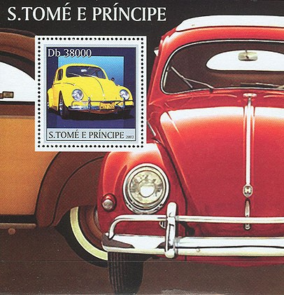 Volkswagen s/s - Issue of Sao Tome and Principe postage stamps