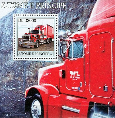 Trucks s/s - Issue of Sao Tome and Principe postage stamps