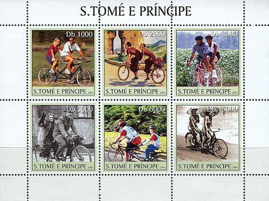 Bikes 6v - Issue of Sao Tome and Principe postage stamps