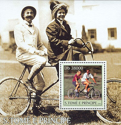 Bikes s/s - Issue of Sao Tome and Principe postage stamps
