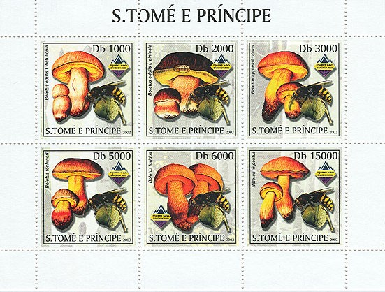 Mushrooms & Bees - Issue of Sao Tome and Principe postage stamps