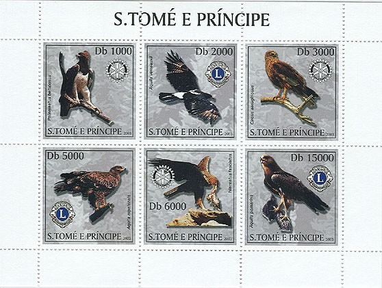 Eagles & Lions-Rotary - Issue of Sao Tome and Principe postage stamps