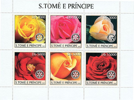 Roses & Rotary - Issue of Sao Tome and Principe postage stamps