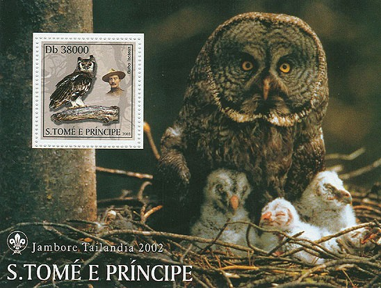 Owls & Scouts - Issue of Sao Tome and Principe postage stamps