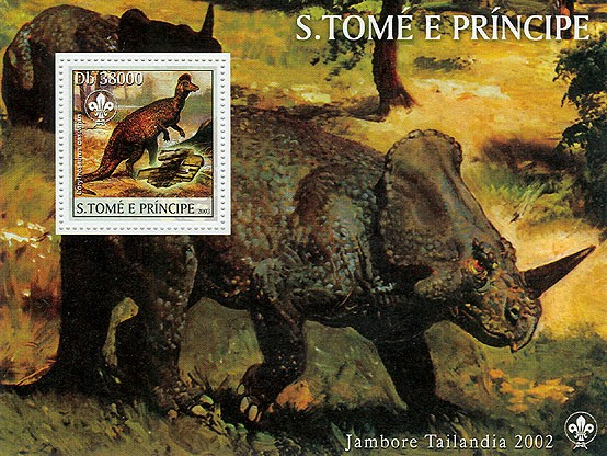 Dinosaurs & Minerals & Scouts - Issue of Sao Tome and Principe postage stamps