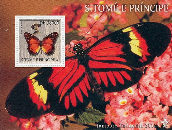 Butterflies & Scouts - Issue of Sao Tome and Principe postage stamps