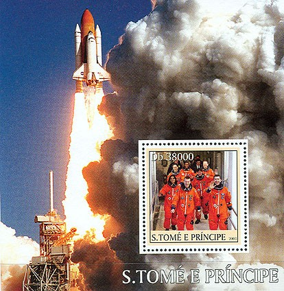 Shuttle Columbia?タᆵ s/s - Issue of Sao Tome and Principe postage stamps