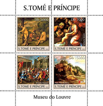Museum of Louvre 4v - Issue of Sao Tome and Principe postage stamps