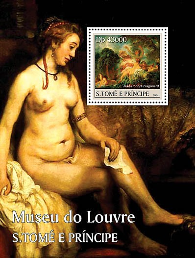 Museum of Louvre s/s - Issue of Sao Tome and Principe postage stamps