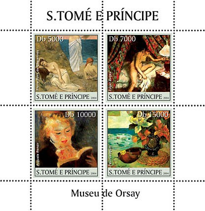 Museum of Orsay 4v - Issue of Sao Tome and Principe postage stamps