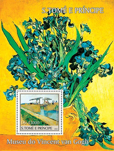 Museum of Vincent Van Gogh s/s - Issue of Sao Tome and Principe postage stamps