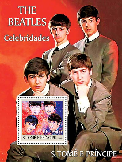 Celebrities s/s: the Beatles - Issue of Sao Tome and Principe postage stamps
