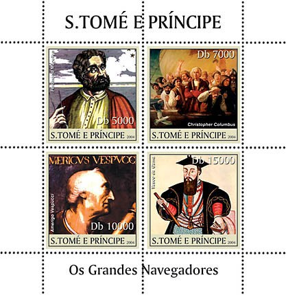 Great Navigators 4v - Les Grands Navigateurs - Issue of Sao Tome and Principe postage stamps