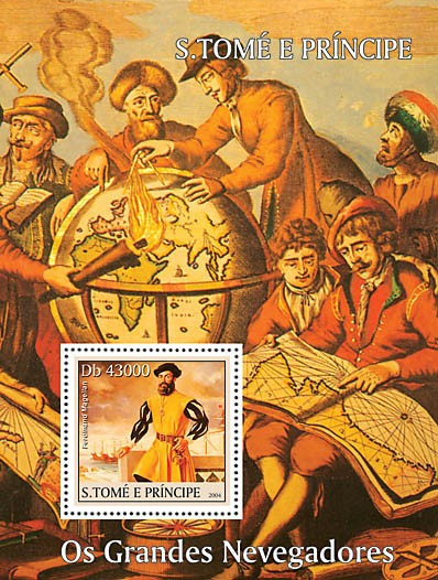Great Navigators s/s - Les Grands Navigateurs - Issue of Sao Tome and Principe postage stamps