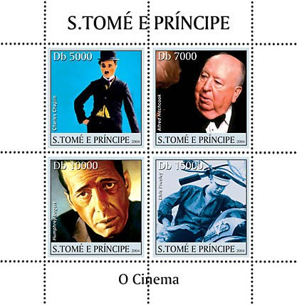 Cinema-actors 4v - Issue of Sao Tome and Principe postage stamps