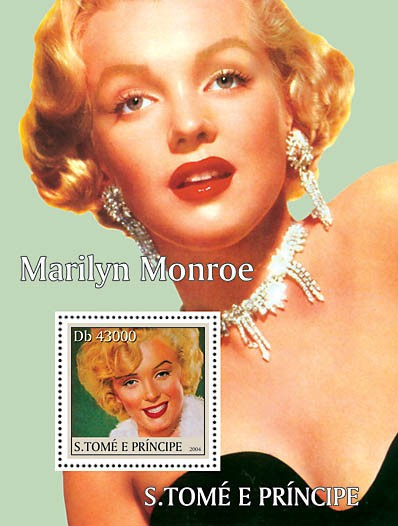 Cinema-actors s/s with Marilyn Monroe - Issue of Sao Tome and Principe postage stamps