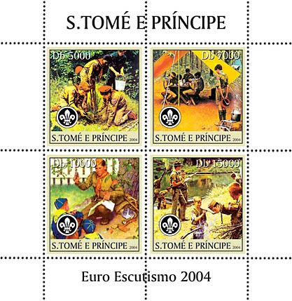 Real scouts 4v - Issue of Sao Tome and Principe postage stamps