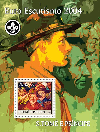 Real scouts s/s - Issue of Sao Tome and Principe postage stamps