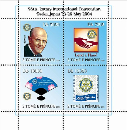 95th Rotary Int. Convention Osaka, Japan  4v I - Issue of Sao Tome and Principe postage stamps