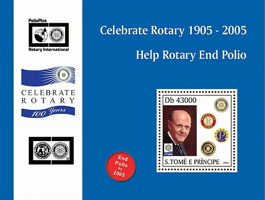 95th Rotary Int. Convention Osaka, Japan  s/s I - Issue of Sao Tome and Principe postage stamps