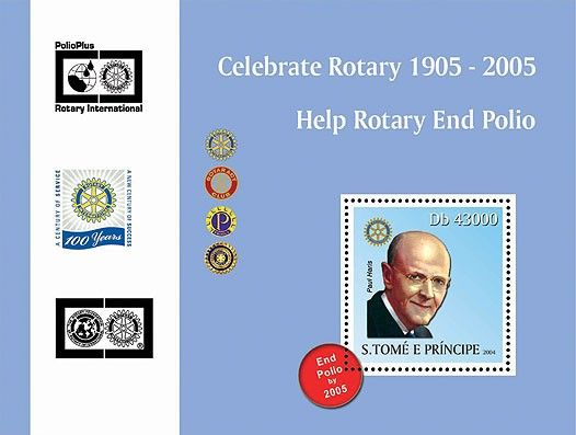 95th Rotary Int. Convention Osaka, Japan  s/s II - Issue of Sao Tome and Principe postage stamps