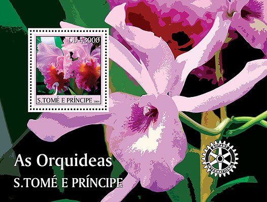 Orchids - Les orchidees s/s - Issue of Sao Tome and Principe postage stamps